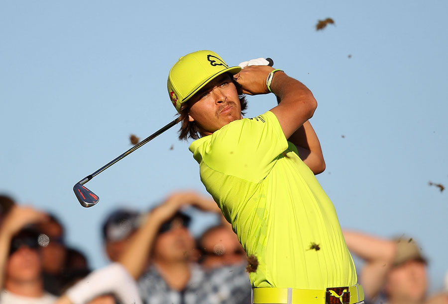 Rickie Fowler double bogeyed the 17th on his way to a two-under 69.