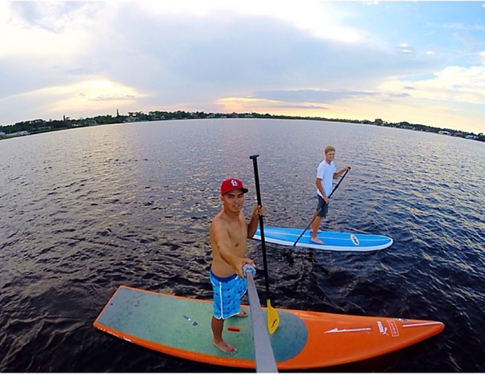 @RickieFowlerPGA:Little afternoon SUP...great way to finish up the day with my bud @mohobbs @gopro #Hero3plus
