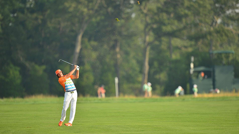 Rickie Fowler made four birdies and three bogeys for a 70.
