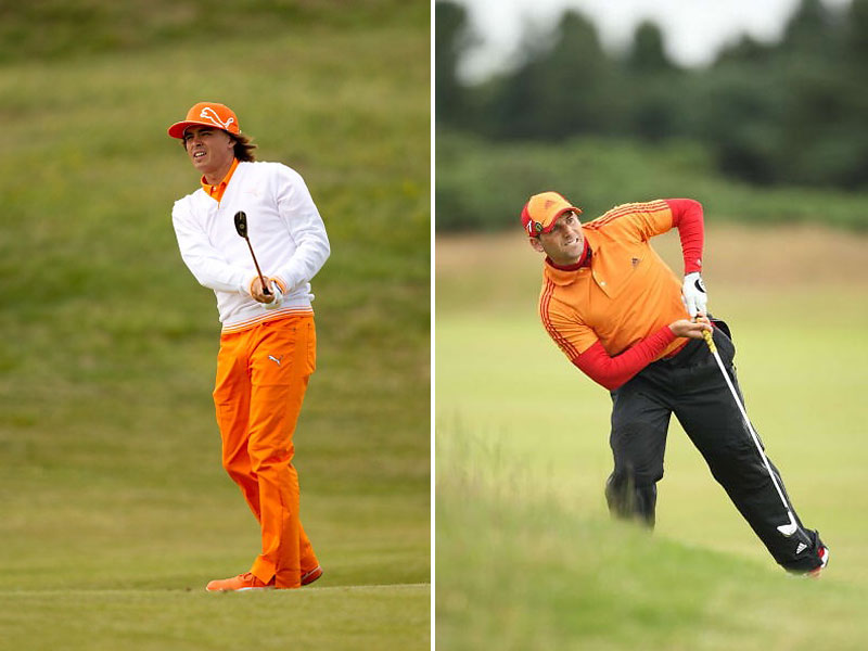 A new generation of colorful young guns has been capturing the eye, including Rickie Fowler, here at the 2011 Open at Royal St. George's, and Sergio Garcia, shown at Carnoustie in 2007.