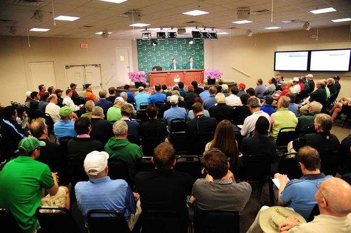 Fred Ridley, the competition committee chairman at Augusta National, talked with the media about why Woods was penalized two strokes and not disqualified.