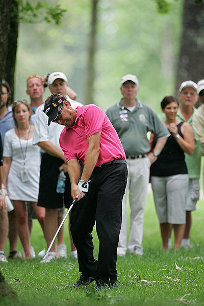 Robert Allenby eagled the par-5 16th, to finish six strokes off the lead at 12 under.