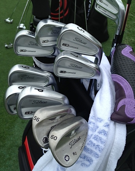 Robert Streb's Titleist CB Forged irons and Vokey wedge.