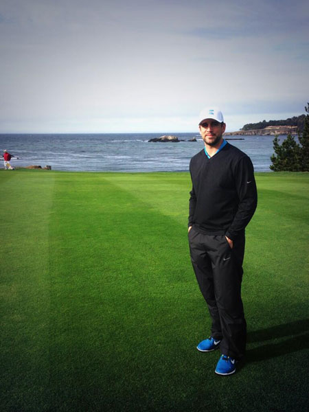 @AaronRodgers12: This was my view on 6 today at pebble. Had a blast with Jerry this week. #teamkellyrodgers