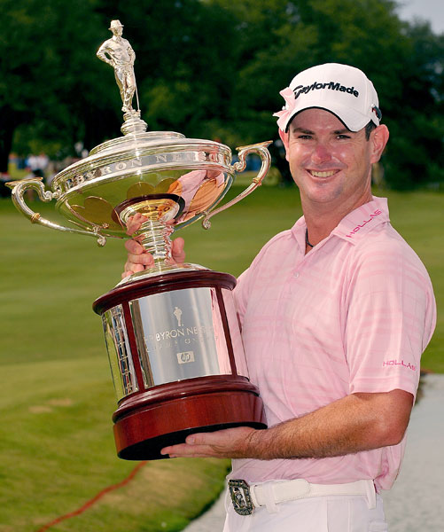 HP Byron Nelson Championship                       Winner: Rory Sabbatini                       Rory Sabbatini shot a closing 6-under 64 Sunday for a two-stroke victory over late-charging Brian Davis.                        Read the entire story