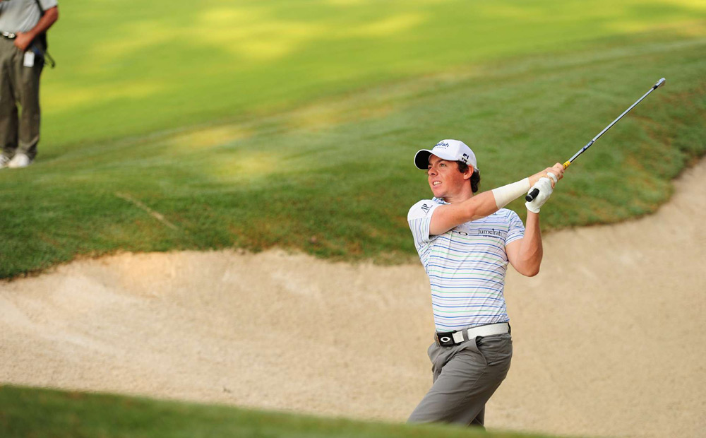 McIlroy taped the wrist and gutted it out for the final three rounds at the PGA. He finished at 11 over par, well out of contention.