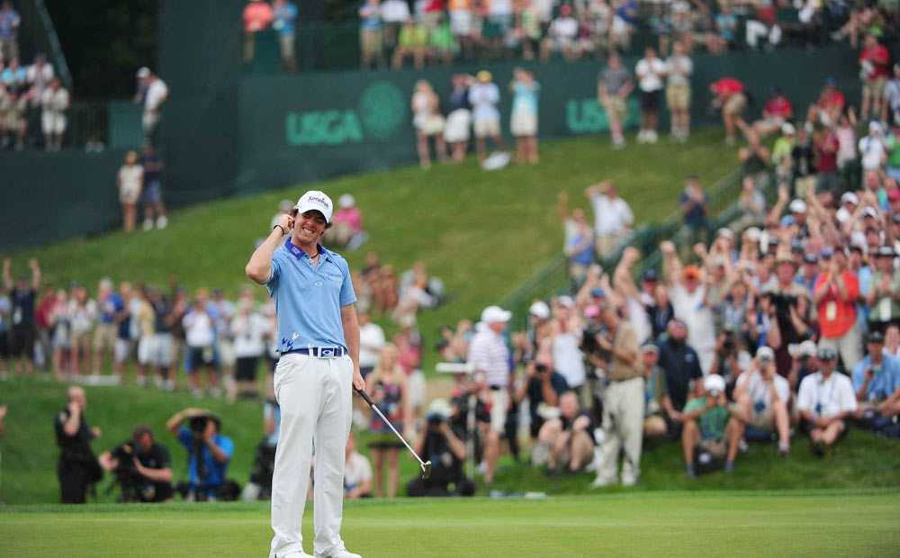 McIlroy's final putt gave him the U.S. Open by eight strokes and his first career major title.