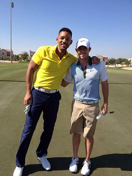 Rory hanging with the Fresh Prince the first week of January.                                              @McIlroyRory: Met the fresh prince aka Will Smith today at the golf course! Great guy and a good golf swing!