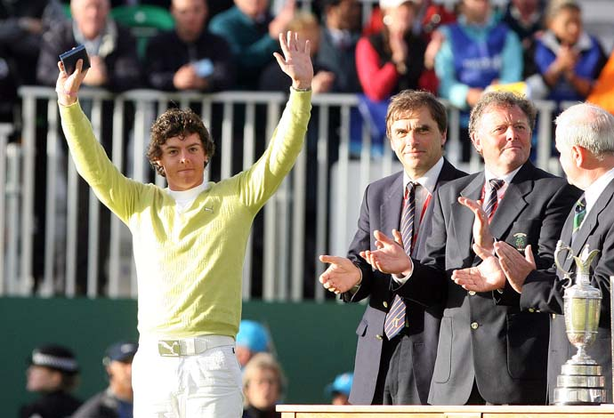 Rory McIlroy finished T42 and was low amateur in his first Open Championship start at Carnoustie in 2007. At St. Andrews in 2010, McIlroy tied the course record with a first-round 63 and finished T3.
