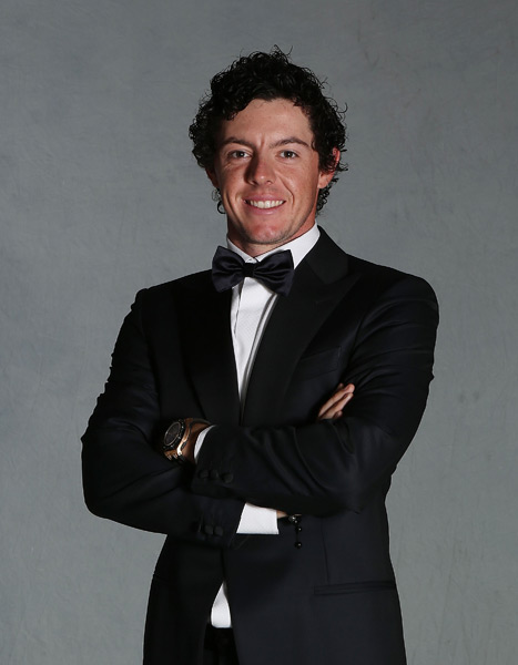 Rory McIlroy was without his girlfriend, the tennis player Caroline Wozniacki, who is playing in a tournament in Tokyo.
