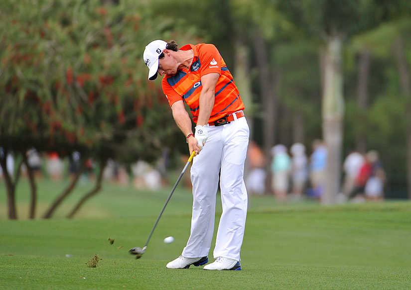 Rory McIlroy birdied two of the last four holes to grab a two-shot lead heading into the final round.