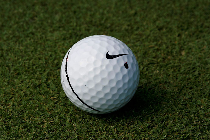 "Nike RZN Black Ball: ""I honestly think the golf ball begins around the greens. It has to feel right to you with your chip shots, with your putting. Then you work back from there. For me, the RZN Black is a little softer than the one I was playing before. It was great for me around the greens, it felt a little duller or deader and I got a little bit more spin around the greens and kept a similar amount of spin with the iron shots. And when I paired it up with the driver, I knew that I had it then. It was the best driver-ball combo I've ever had and it still is."""