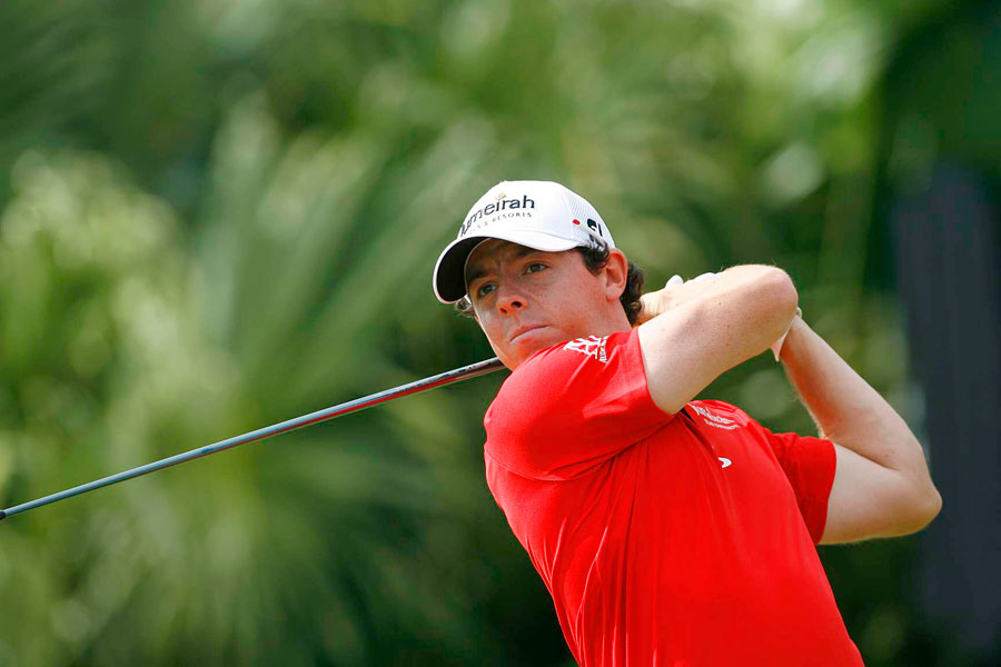 Rory McIlroy made five birdies, four bogeys and an eagle for a three-under 69.