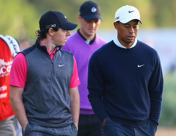 Woods and McIlroy played together on Thursday along with Martin Kaymer (71).