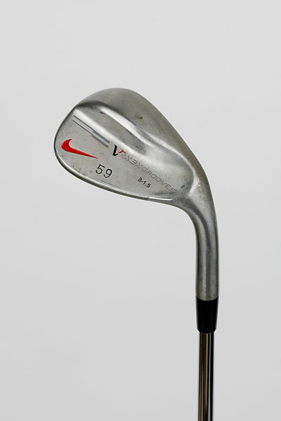"Nike VR X3X Toe Sweep Wedge (59 degree): ""It is easier to play on some shots when you need to work really hard to keep the club open. This club really slides through the thick grass and that really gives me confidence to stay aggressive when I miss the green. I've always been someone with not a lot of bounce to my wedges but I think it's helped my bunker play as well."""