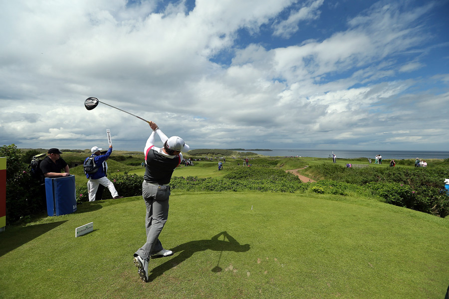 Rory McIlroy got some practice in Wednesday during the pro-am at the Irish Open.