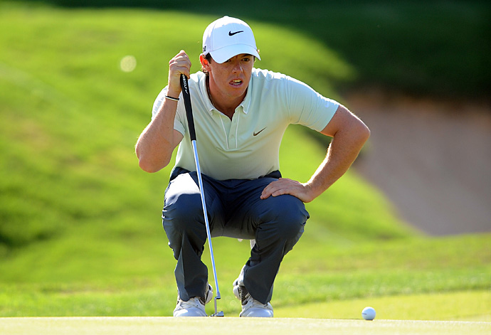Rory McIlroy birdied the last three holes Friday to move into contention at the Texas Open.