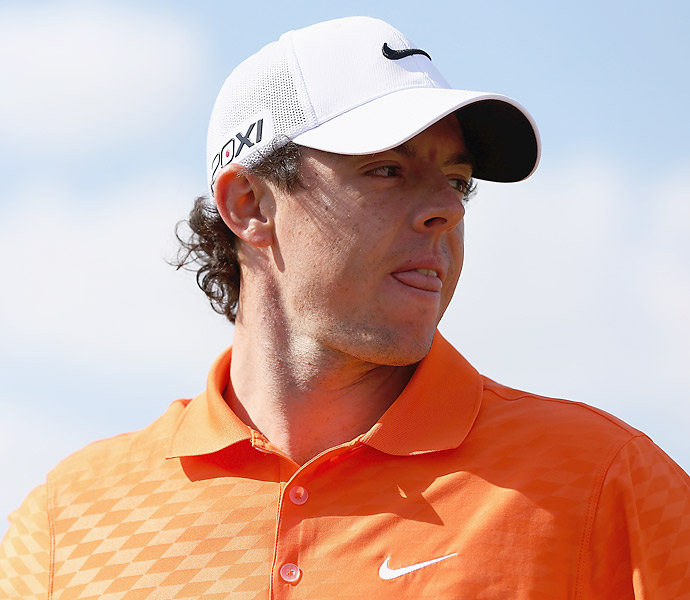 Rory McIlroy got some practice in during the pro-am Wednesday at the Abu Dhabi HSBC Golf Championship.