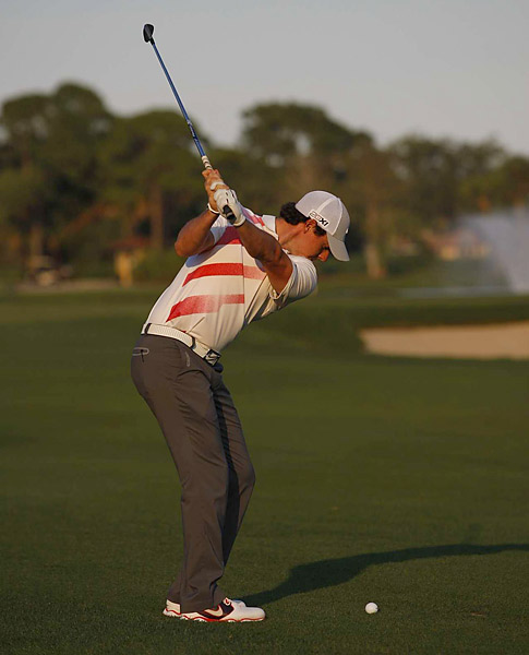 McIlroy was one under before making bogey at 18.
