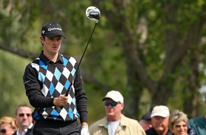 Justin Rose is four shots off the lead after a two-over 72.