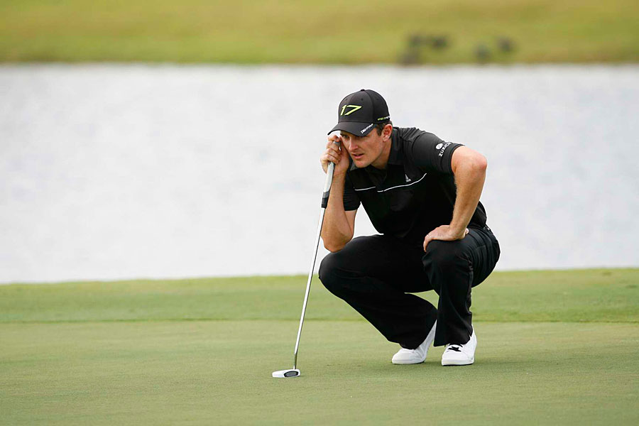 Justin Rose carded an eight-under 64, putting him one shot short of Watson.
