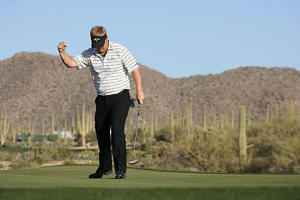 made a 30-foot par putt for the win.
