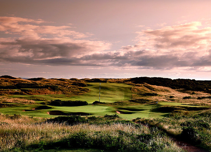 "Royal Portrush (Dunluce), Co. Antrim: The only Irish course ever to host the Open Championship, in 1951, this World Top 15 layout dates to 1888. The present links is a 1929 H.S. Colt creation that climbs into the dunes and features one of the greatest holes in golf, the 210-yard, par-3 14th, aptly named ""Calamity."" Amid winds whipping off the Irish Sea, a slice or fade off the tee will plunge into a 75-foot-deep chasm short and right of the hole. ($100-$291; 011 44 28 7082 2311, royalportrushgolfclub.com)"