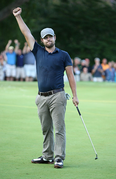 Wyndham Championship                       Winner: Ryan Moore                       After a terrific amateur career and four runner-up finishes on the PGA Tour, Ryan Moore captured his first PGA Tour victory by sinking a birdie putt on the third playoff hole.                                               Read the entire article
