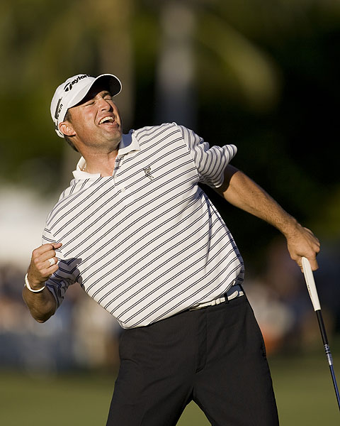 Ryan Palmer won the Sony Open with a birdie on the 18th hole.