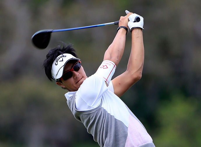 Ryo Ishikawa opened with a three-under 69, but he stumbled to a 77 on Friday.