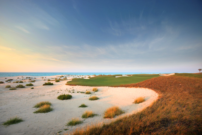 "Saadiyat Island -- Abu Dhabi                     Player Says: ""This course blends into the beautiful blue waters of the Arabian gulf. The only seaside course in the UAE."""