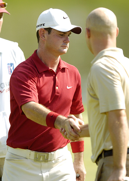 Sabbo vs. Crane                     Sabbatini and Ben Crane, a notoriously slow player, were paired together in the final round of the 2005 Booz Allen Classic. Frustrated with the pace of play, Sabbatini putted out of turn at the 17th and then stormed off to the 18th tee before Crane was able to finish the hole. The crowds at Congressional showered Sabbo with boos, and he later publicly apologized to Ben Crane and the Tour.