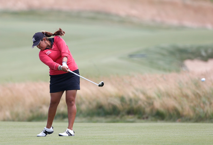 Lizette Salas fell out of contention after an 82.