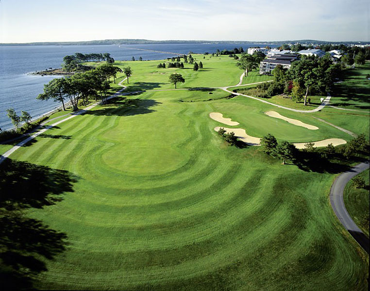 1. Samoset Resort, Rockport, ME; 800-341-1650, samosetresort.com                     Samoset may have its share of design quirks, such as the gargantuan, if somewhat out-of-place closing par 4, but it also has some of the most spectacular seaside holes on the East Coast. Once you've met with the Penobscot Bay at the 227-yard, par-3 third, and curved around the Atlantic Ocean on the par-5 fourth, where the Rockland Breakwater (and its historic lighthouse) juts out nearly a mile into the Bay, you're hooked for good.