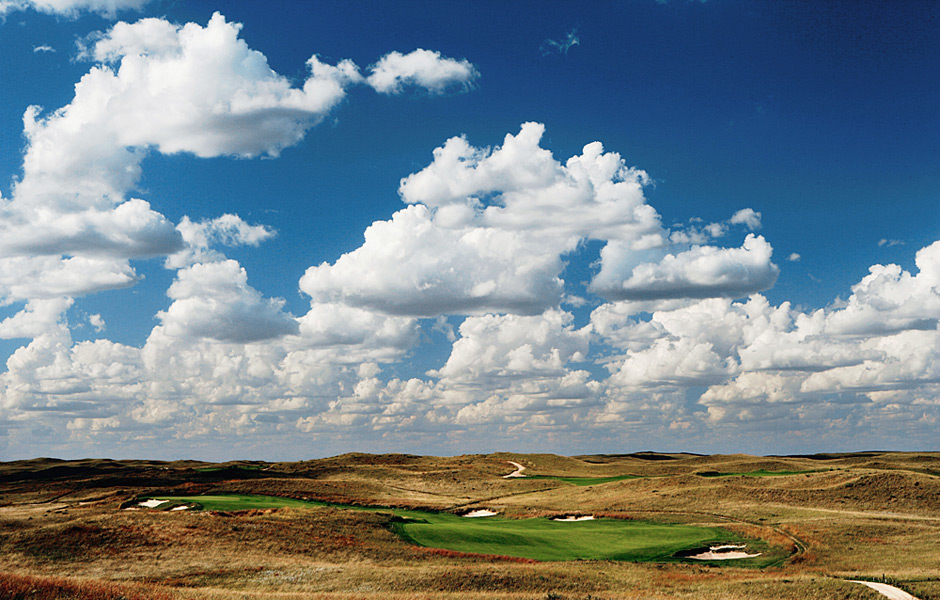 Sand Hills -- Mullen, Neb.Jim Awtrey, former CEO of the PGA of America, made this his fantasy PGA pick a few years back and it's easy to see why. It's sheer folly because it's impossibly remote, but the effort to get here is worth it. Hewn from wind-blasted, prairie land and blanketed with tall golden grasses, this Bill Coore/Ben Crenshaw design is considered by many to be the best course built in the last 50 years.Ranked No. 24 on Golf Magazine's Top 100 Courses in the U.S.