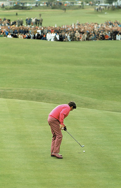 Doug Sanders: 1970 British Open                       Sanders missed a three-foot putt on the 72nd hole at St. Andrews that would have won the tournament. He lost in a playoff to Jack Nicklaus.