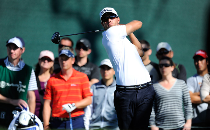 Adam Scott made five birdies and a bogey for a 67.