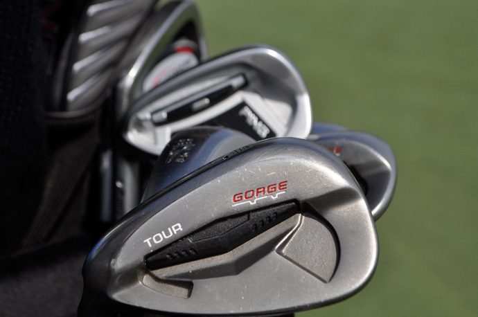 Left-hander Scott Langley relies on a Ping Tour wedge with Gorge grooves.