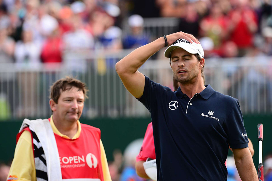 """I had it in my hands with four to go,"" Scott said. ""I managed to hit a poor shot on each of the closing four holes."""