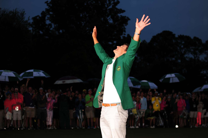 Adam Scott broke through for his first major title and became the first Australian to win a green jacket.