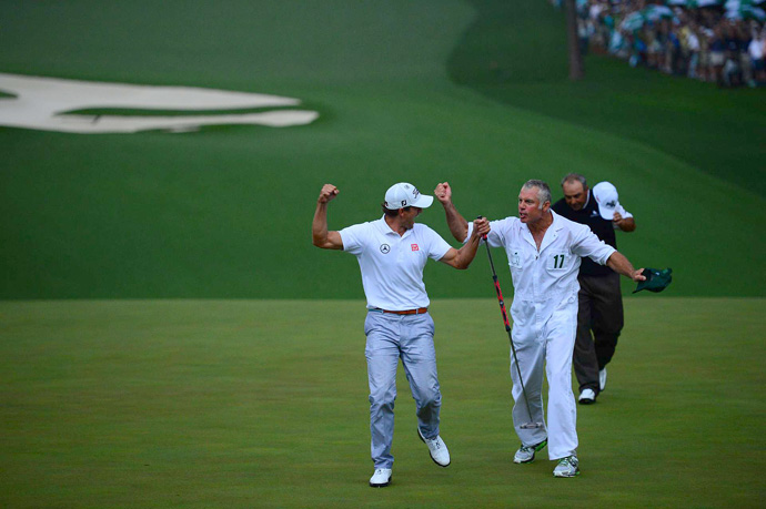 Scott credited his caddie, Steve Williams, with the read on the winning putt.