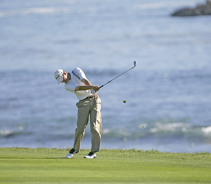 """The Case of the Mystery Ball Mark                     THE DEFENDANT: Sean O'Hair                     THE CASE: On the fifth hole at the 2006 Pebble Beach National Pro-Am, O'Hair and his playing partners hit their tee shots. When O'Hair reached the ball that he thought he had played off the tee, it had markings he didn't recognize. While the ball was the model he had been using -- a Titleist 2 -- O'Hair says he was sure it wasn't his because of the markings. A rules official checked the other players' balls, and none of them were identified as O'Hair's. """"There wasn't enough evidence that it wasn't my ball, but to this day I still don't know how it happened.""""                     Go to the next page for the verdict."""