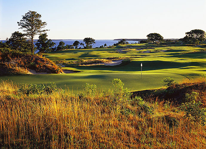 4. Sebonack Golf Club, Southampton, N.Y.: Jack Nicklaus and Tom Doak meshed their design skills to create a seaside gem that abuts the National Golf Links of America overlooking the Great Peconic Bay. Competitors at the 2013 U.S. Women's Open were bedeviled and bedazzled by undulating greens with false fronts and sides and by memorable holes such as the downhill, dogleg left 11th, the short, bunker-strewn par-4 5th and the superb par-5 18th along the Bay.