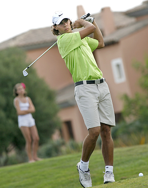 Nadal at a charity tournament in Spain in 2009.