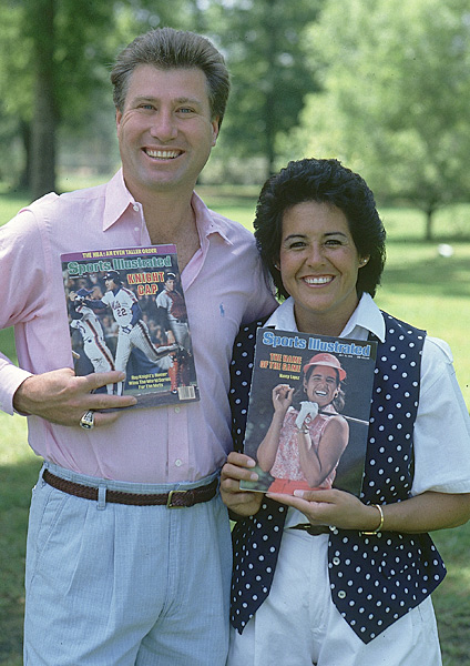 "Nancy Lopez and Ray Knight                                              Talk about a power-hitting power couple. Nancy Lopez, a three-time major winner and one of the most popular LPGA players ever, and all-star third baseman Ray Knight, one of the heroes of the New York Mets' 1986 World Series team, have been married since 1982.                                               ""I just felt like we were going to be pretty ordinary,"" Lopez told SI in 1986. ""I loved baseball and Ray loved golf, and we were in our own little world. We never thought about everything that would come later."""