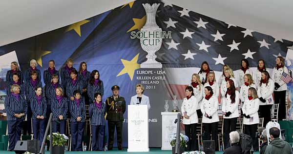 The Solheim Cup pits 12-player teams from the U.S. and Europe against each other in a format now identical to the Ryder Cup.
