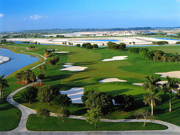 "TPC Heron Bay in Coral Springs, Florida (retired) Even Mark McCumber's friends and colleagues couldn't quite explain, let alone defend, his design of this course. McCumber's creation witnessed six editions of the Honda Classic, from 1997 to 2002. Level and treeless, with little water, but dishing out 119 huge, lip-less bunkers made for a numbingly repetitive test. As defending champion in 1999, Vijay Singh called it ""a little boring."" The next year, Davis Love III acknowledged, ""It's a flat piece of land and no matter what you do, it is going to be a pretty flat golf course and until stuff gets built up around it, there's not much view..."" Mark Calcavecchia opined, ""It's not Pebble Beach by any stretch."" Calc, you got that right."