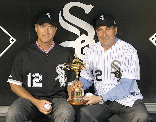 The duo made a trip to a White Sox game.