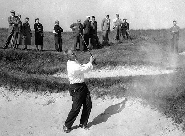 Jack Nicklaus                       The Golden Bear (pictured here at the '59 British Amateur) played in the 1959 Walker Cup before nearly winning the 1960 U.S. Open as an amateur. He then played on the 1961 team before winning his first professional tournament, the 1962 U.S. Open at Oakmont.