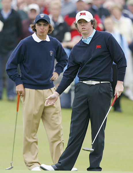 Rory McIlroy                       The reigning U.S. Open champ was on the losing side at Royal County Down (when he faced off against a U.S. team that included Rickie Fowler, left) which is located near his hometown of Holywood, Northern Ireland.
